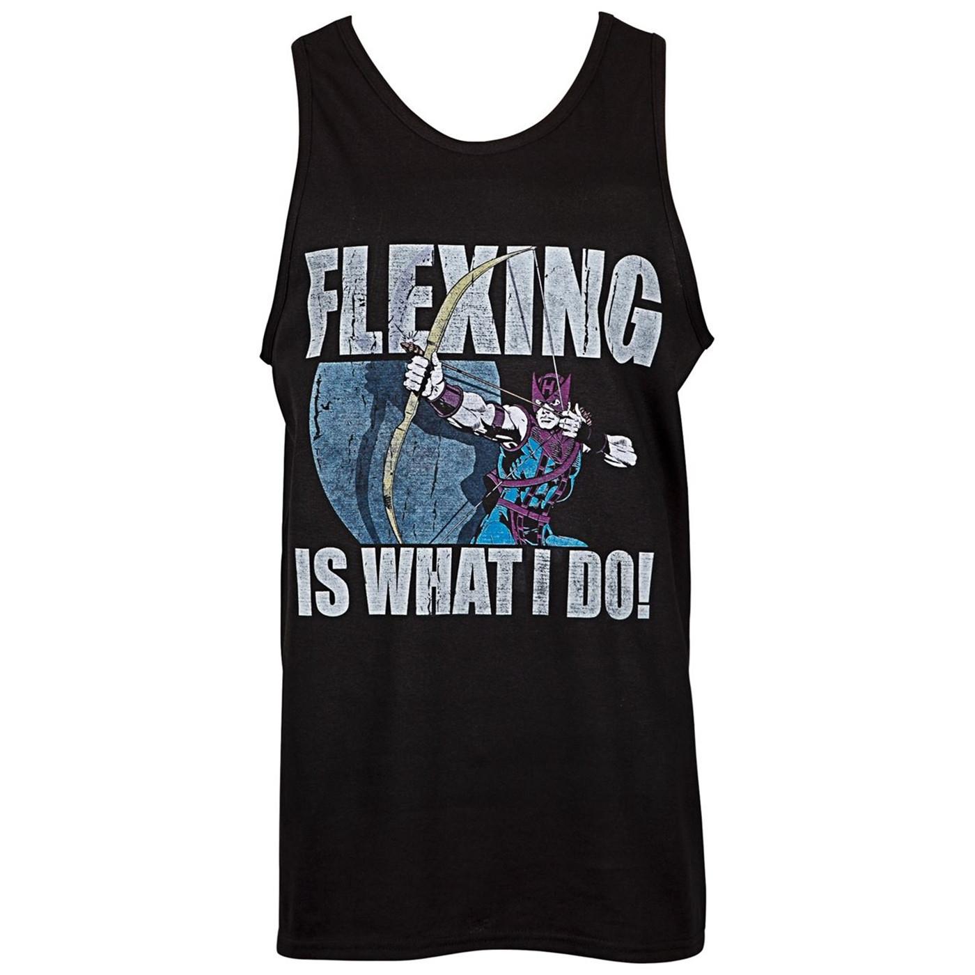 Hawkeye Flexing Is What I Do Tank Top