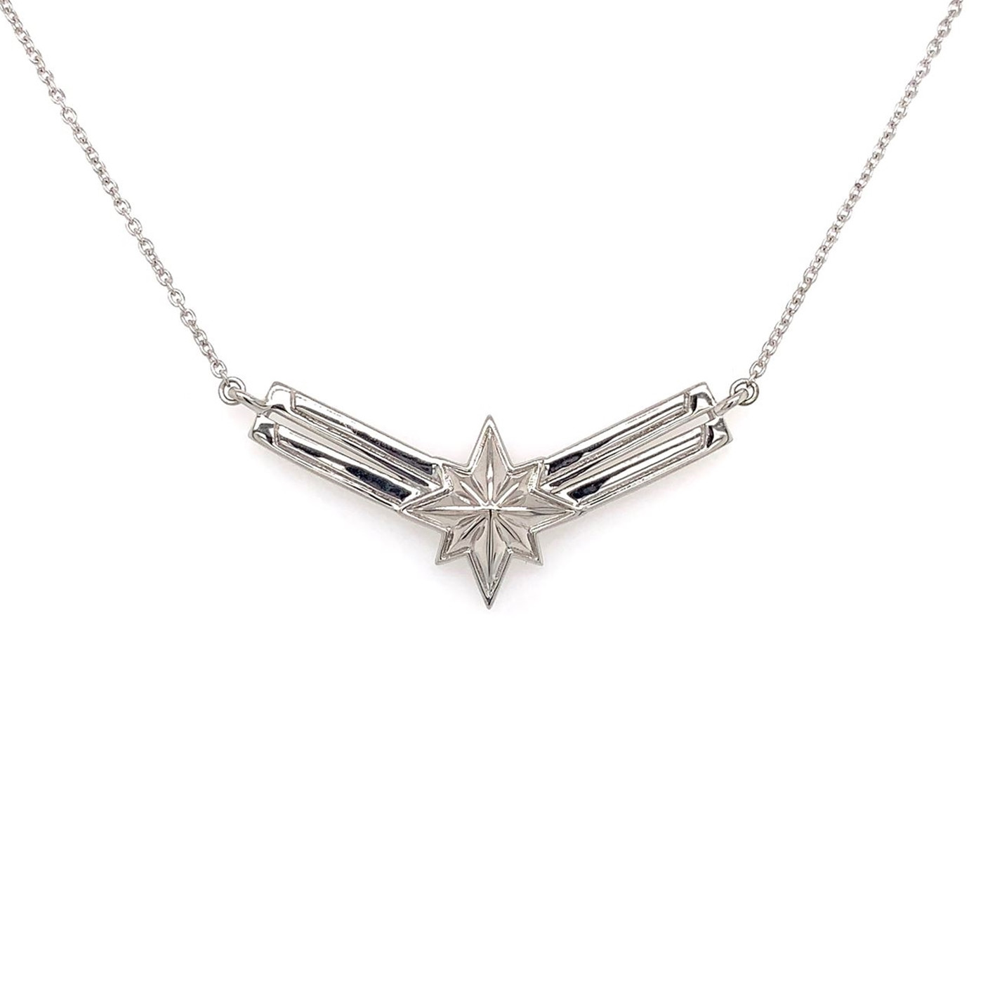 Silver Captain Marvel Necklace