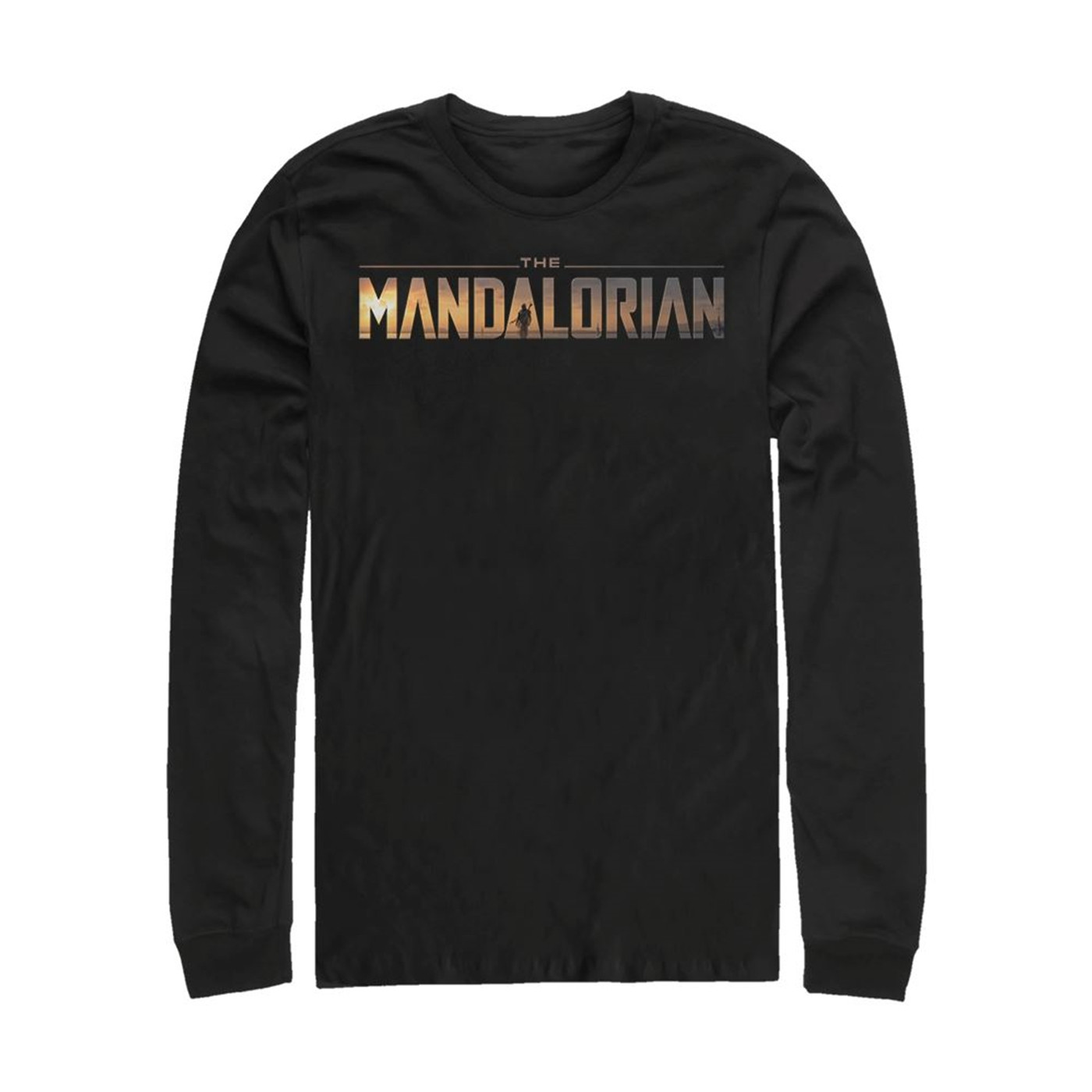 Star Wars The Mandalorian Logo Long Sleeve Shirt