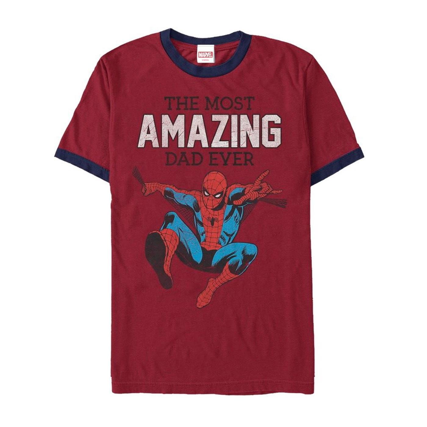 Spider-Man Amazing Dad Ringer T-Shirt