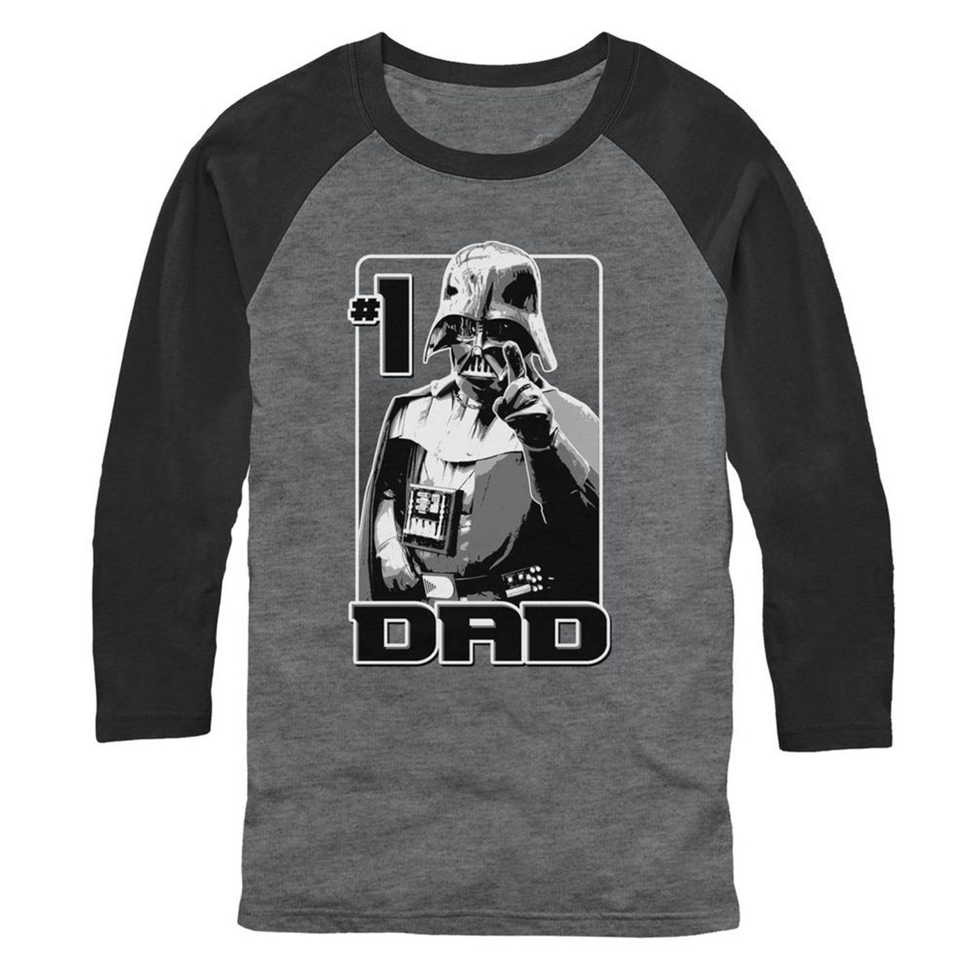 Vader Number One Dad 3/4 Sleeve Baseball T-Shirt