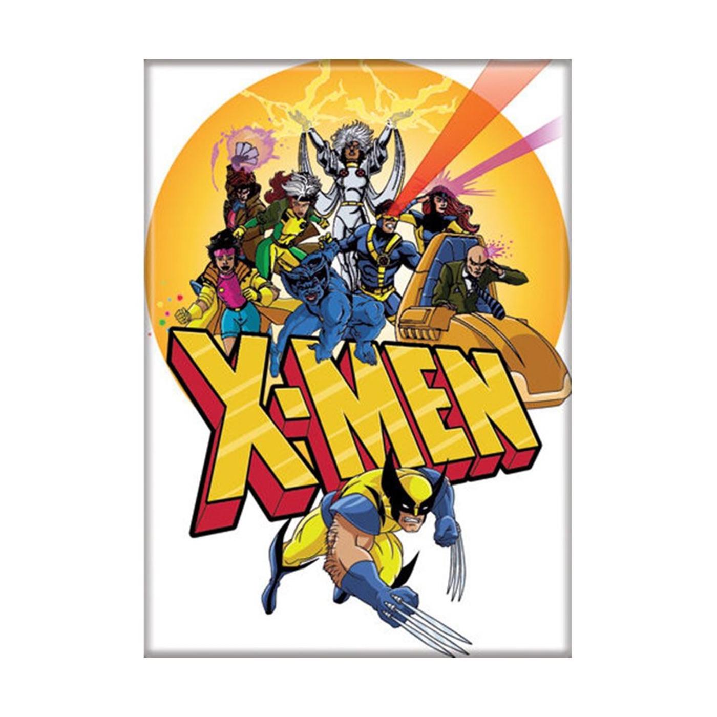 X-Men Cartoon Group Shot Magnet