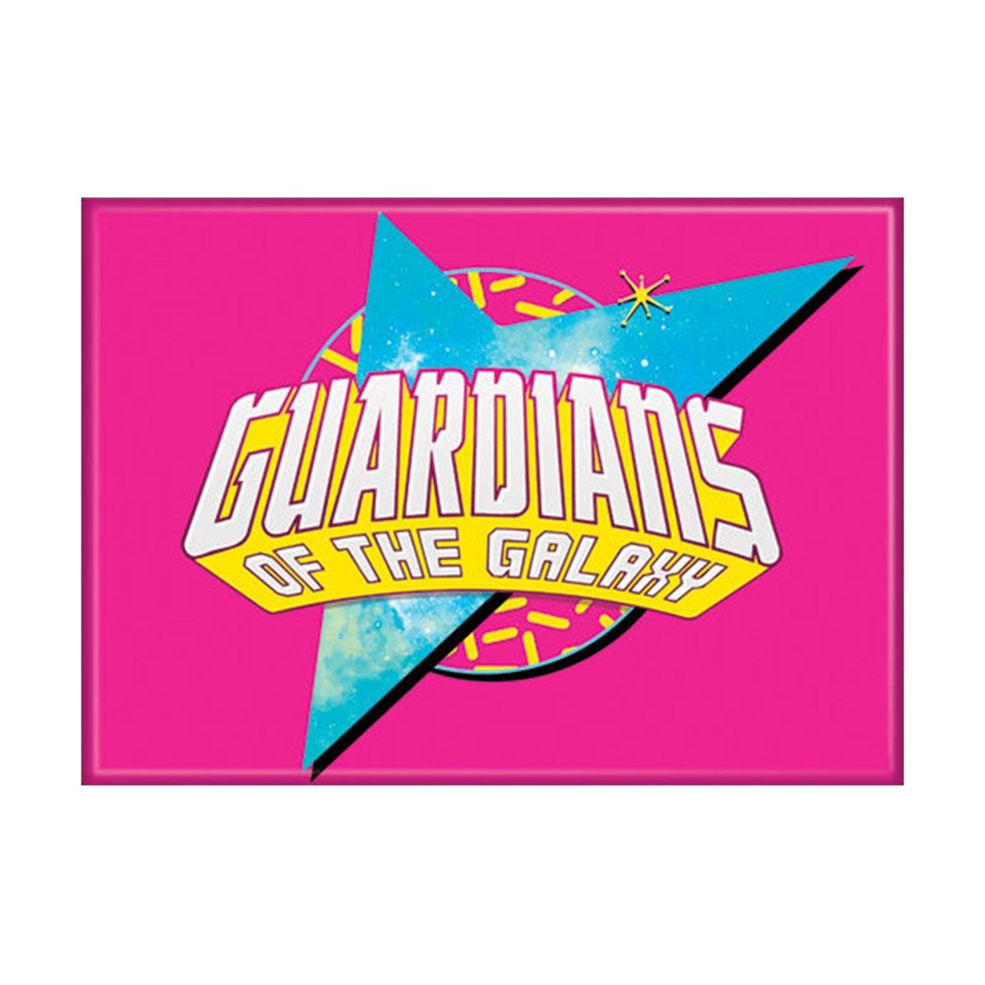 Guardians Logo on Pink Magnet