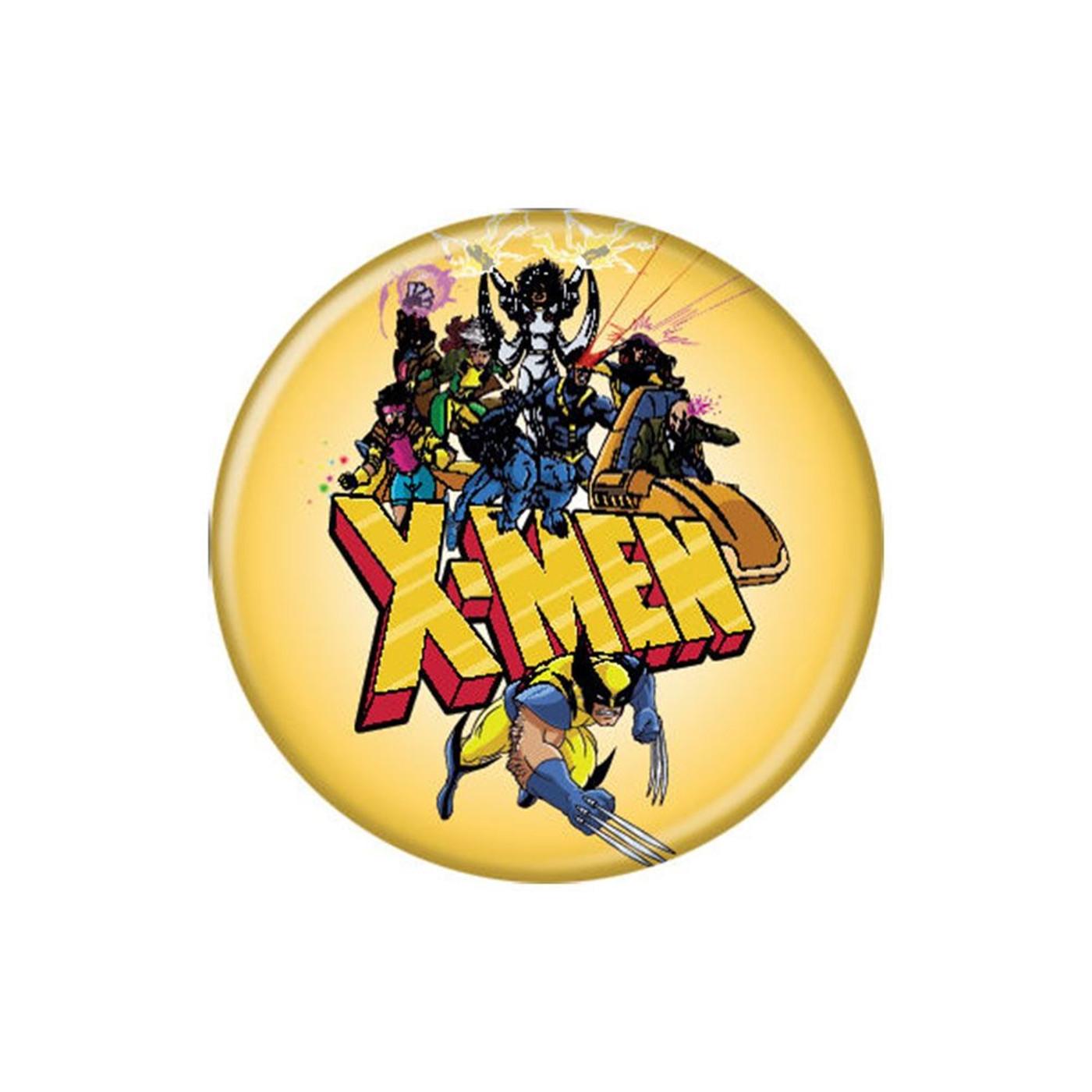 X-Men Cartoon Group Shot Button