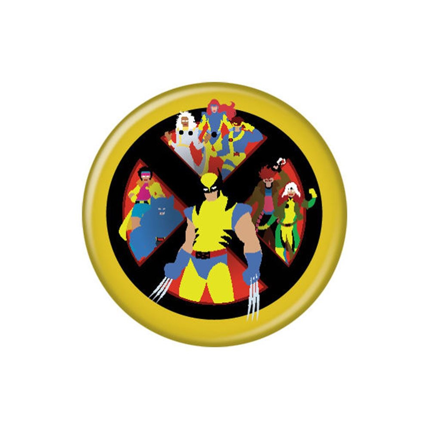 X-Men Cartoon Cast Button