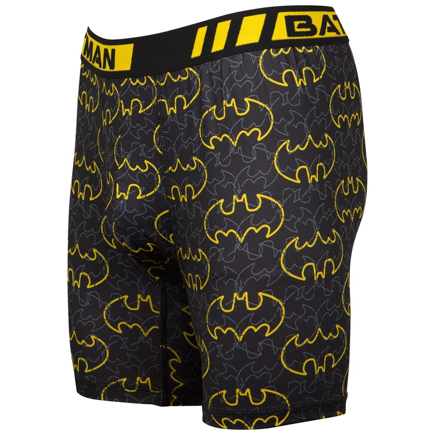 Batman Black and Yellow Symbol All Over Print Boxers