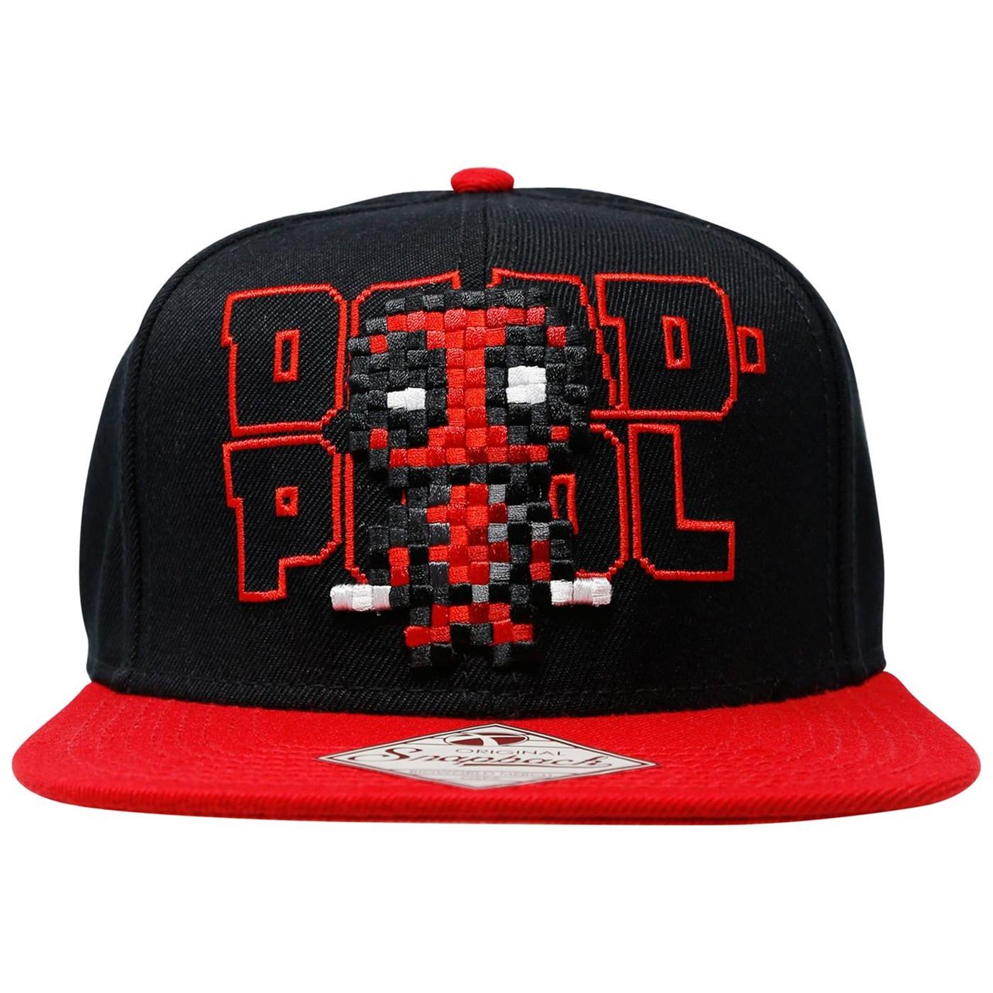 Deadpool Pixel Character Snapback Hat
