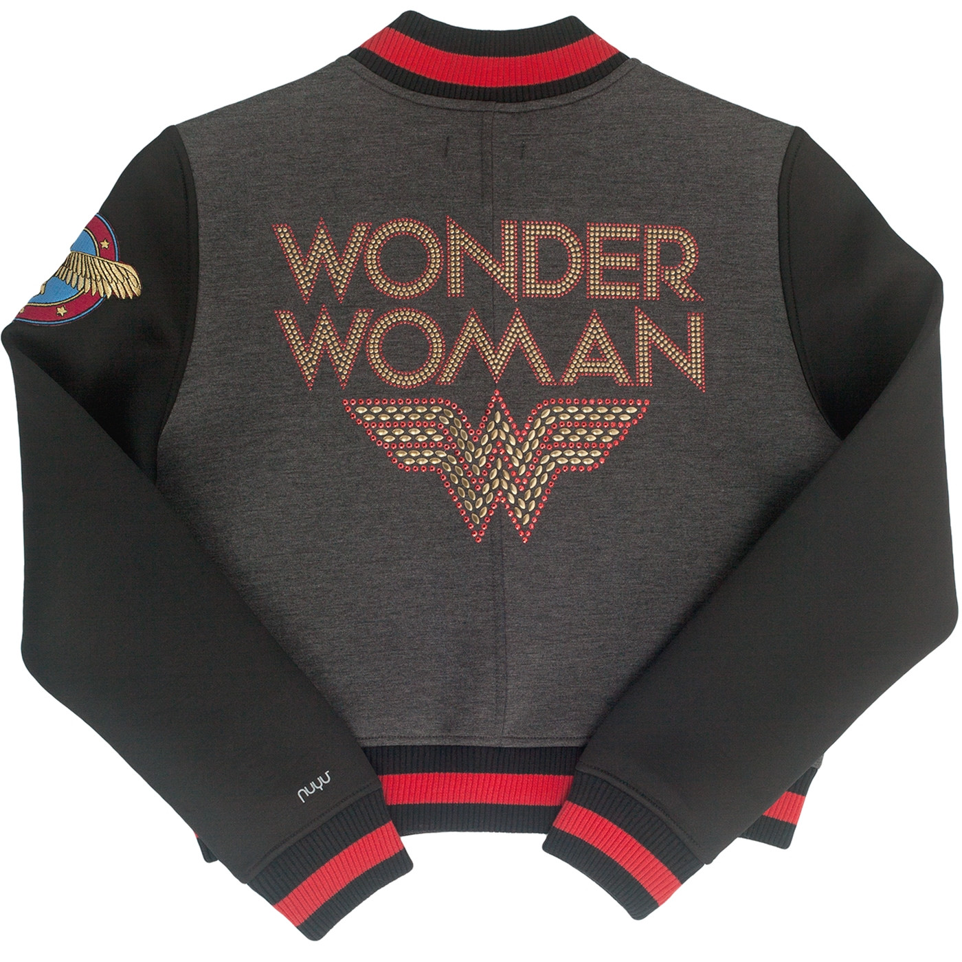 Wonder Woman Studded Varsity Jacket