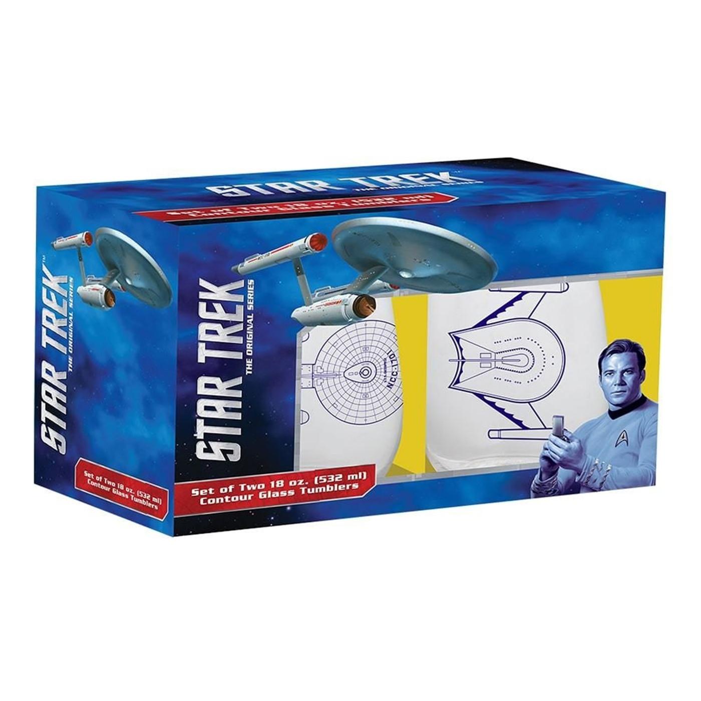 Star Trek 18 oz. Contour Glasses - Set of Two