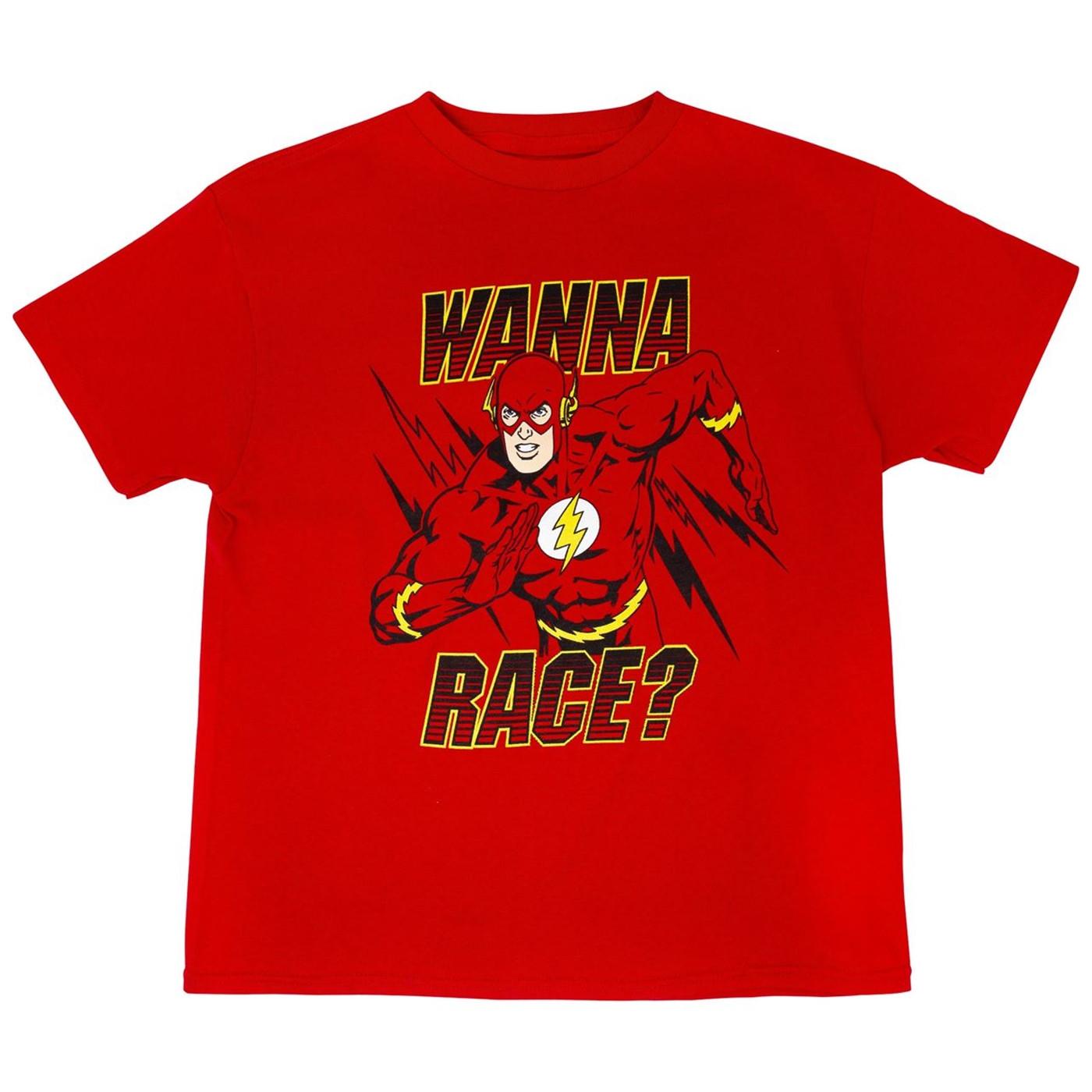 DC Comics Flash Wanna Race? T-Shirt