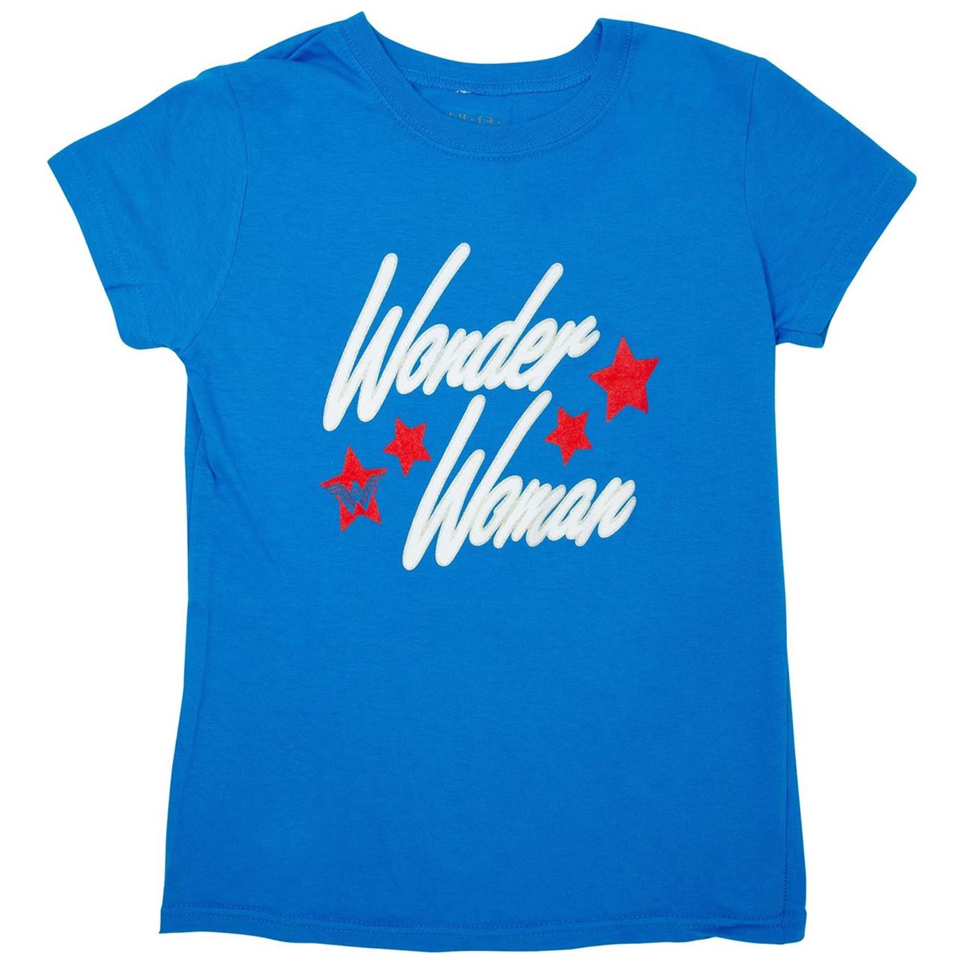 Wonder Woman Retro Blue T-Shirt