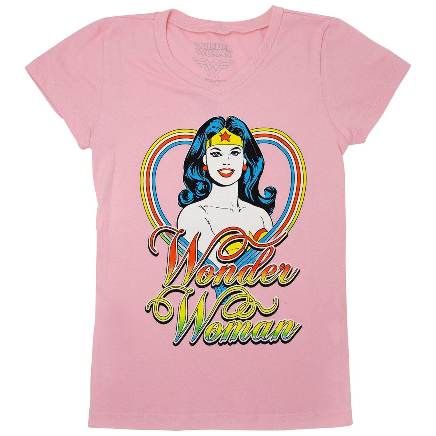 Wonder Woman Girls Pink T-Shirt