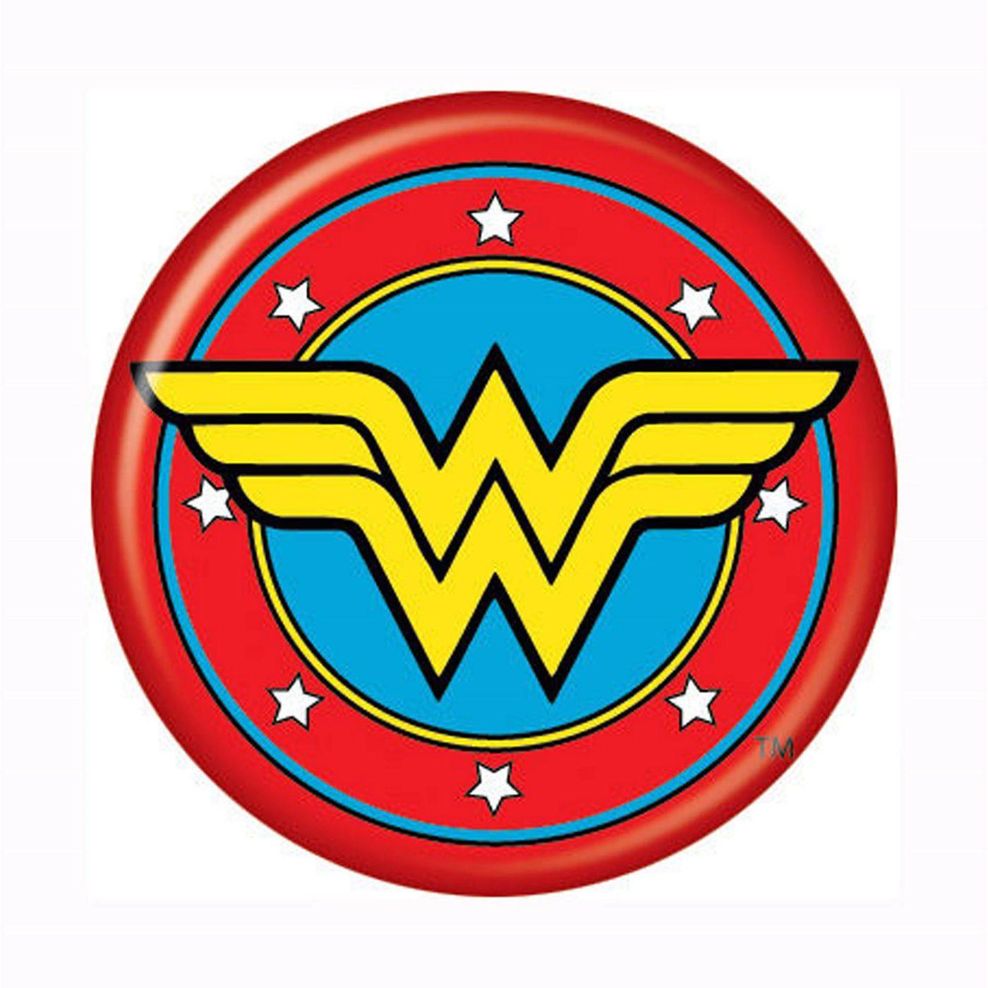 Wonder Woman Symbol Button