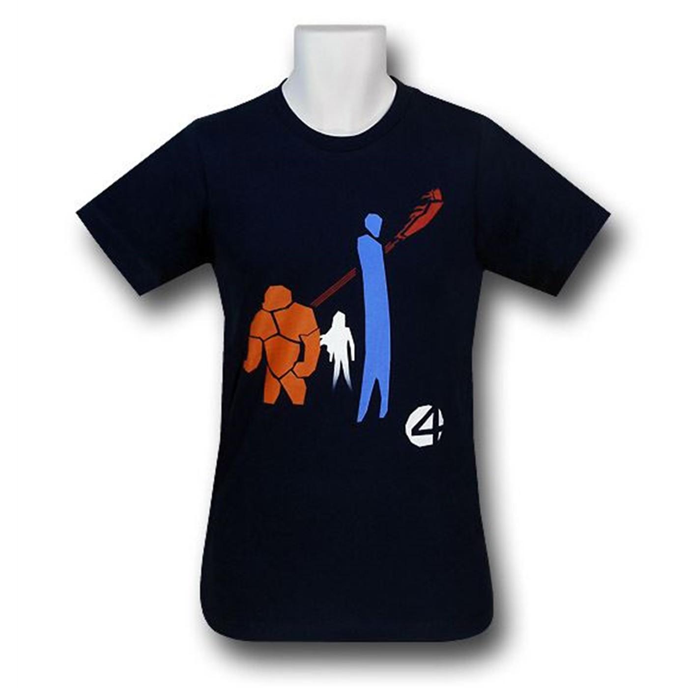 Fantastic Four Minimalist Group 30 Single T-Shirt