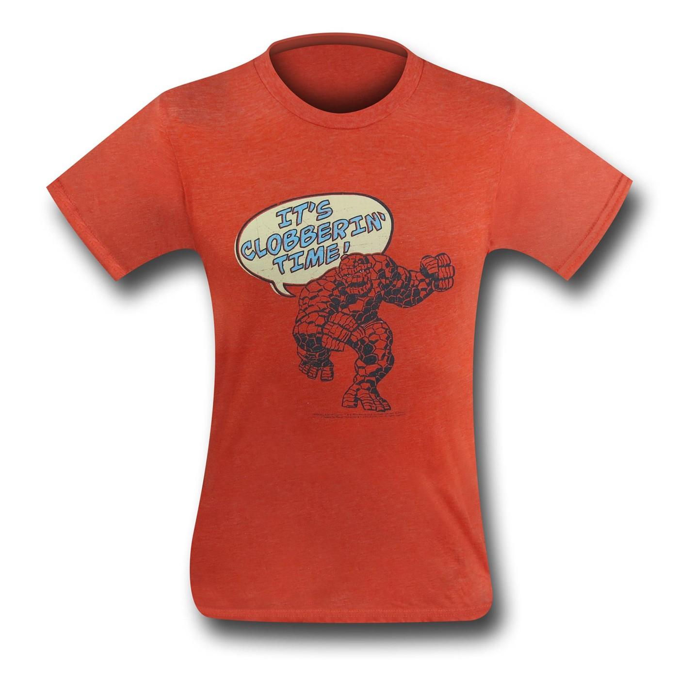Fantastic Four Thing Clobber (30 Single) T-Shirt