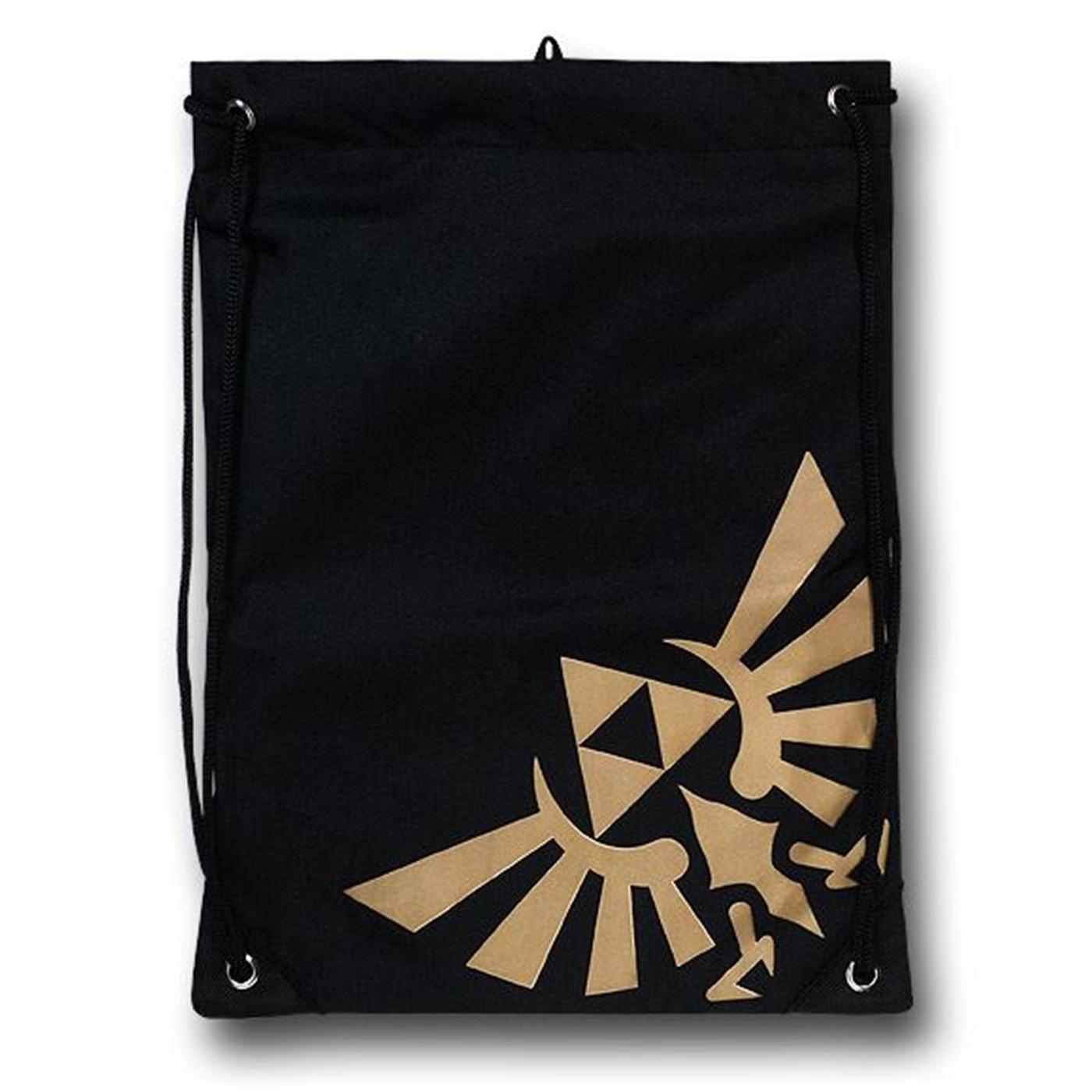 Zelda Symbol Drawstring Cinch Bag