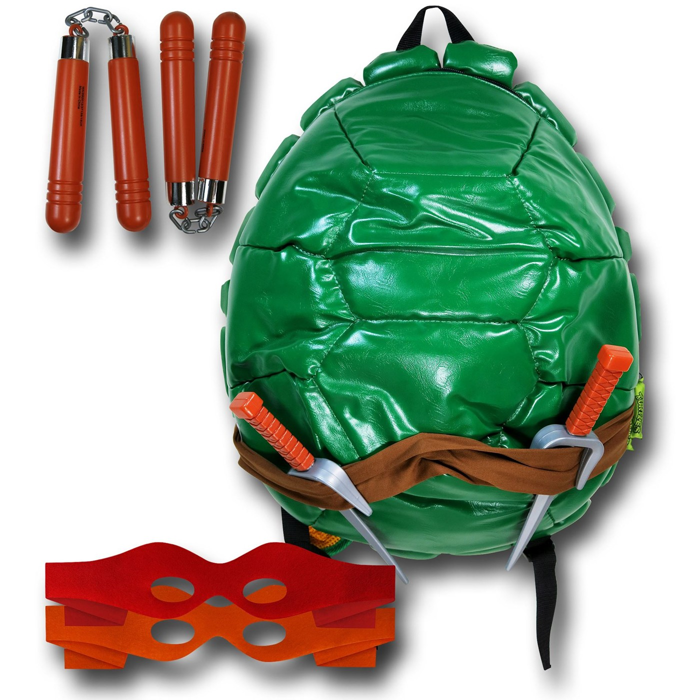 TMNT Turtle Shell Backpack with Masks & Weapons