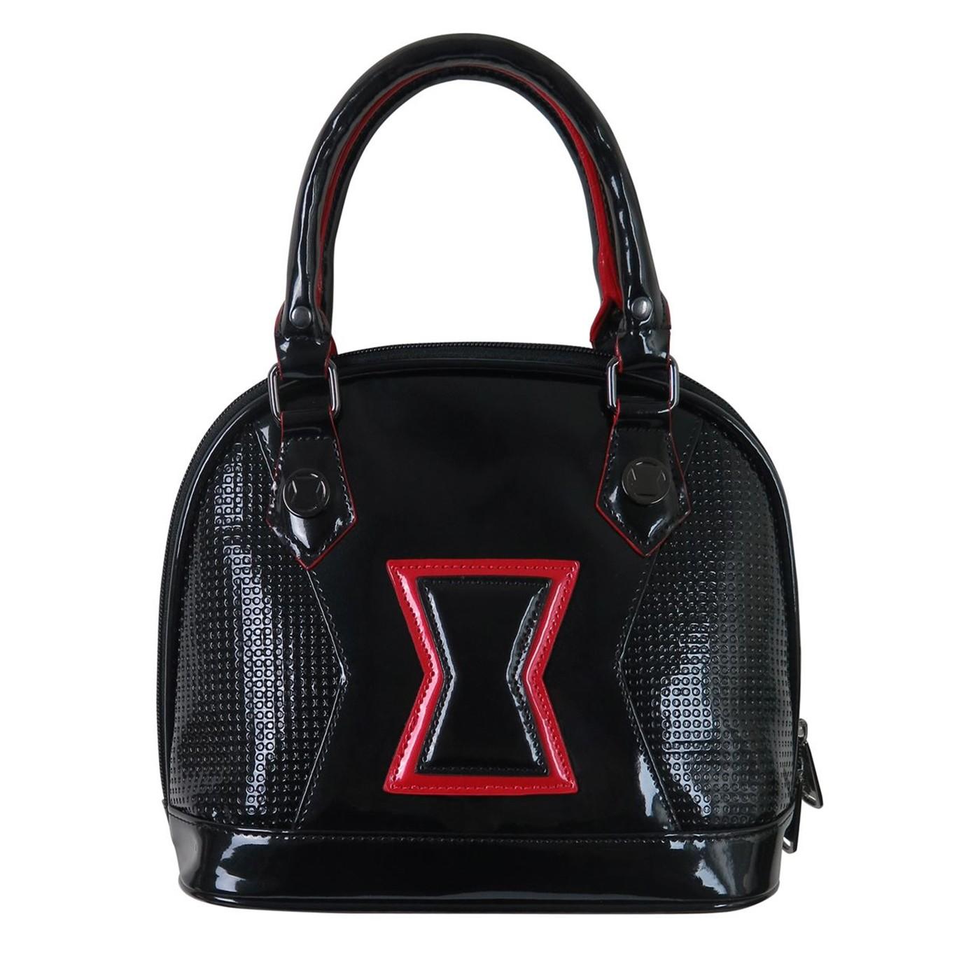Black Widow Symbol Loungefly Patent Leather Handbag