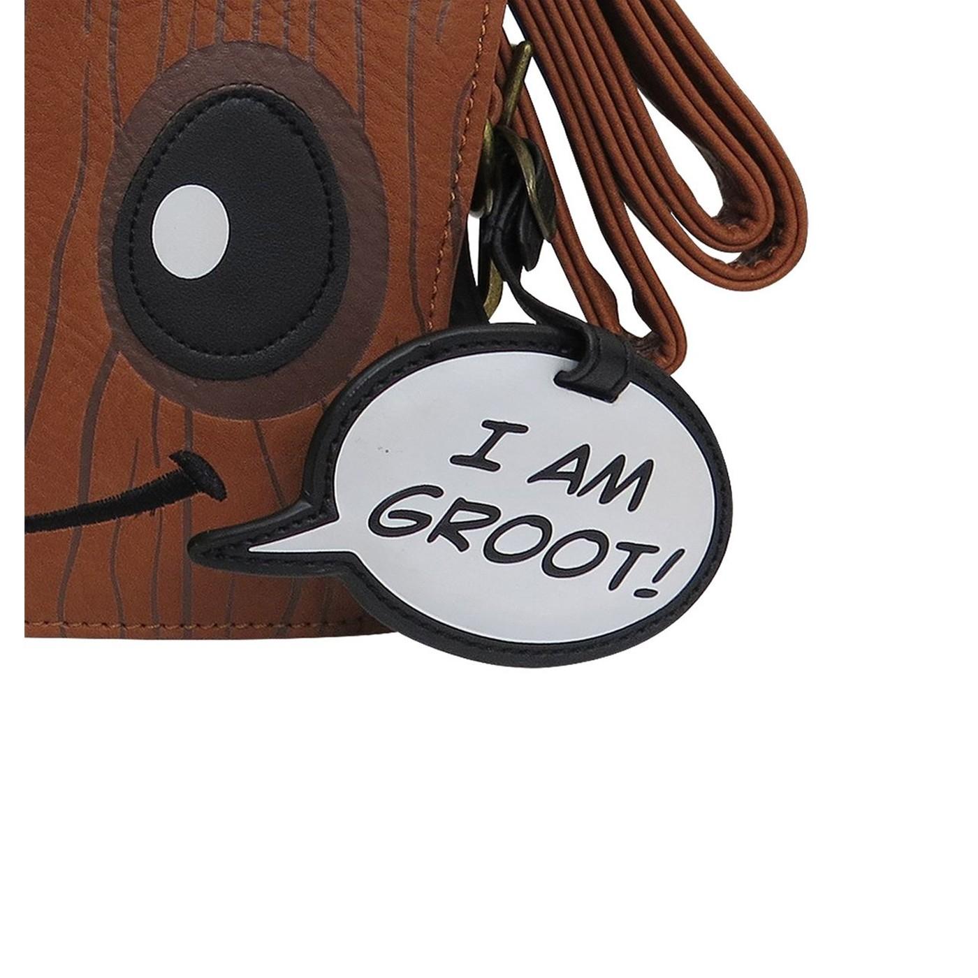 GOTG Groot Loungefly Crossbody Handbag with Charm