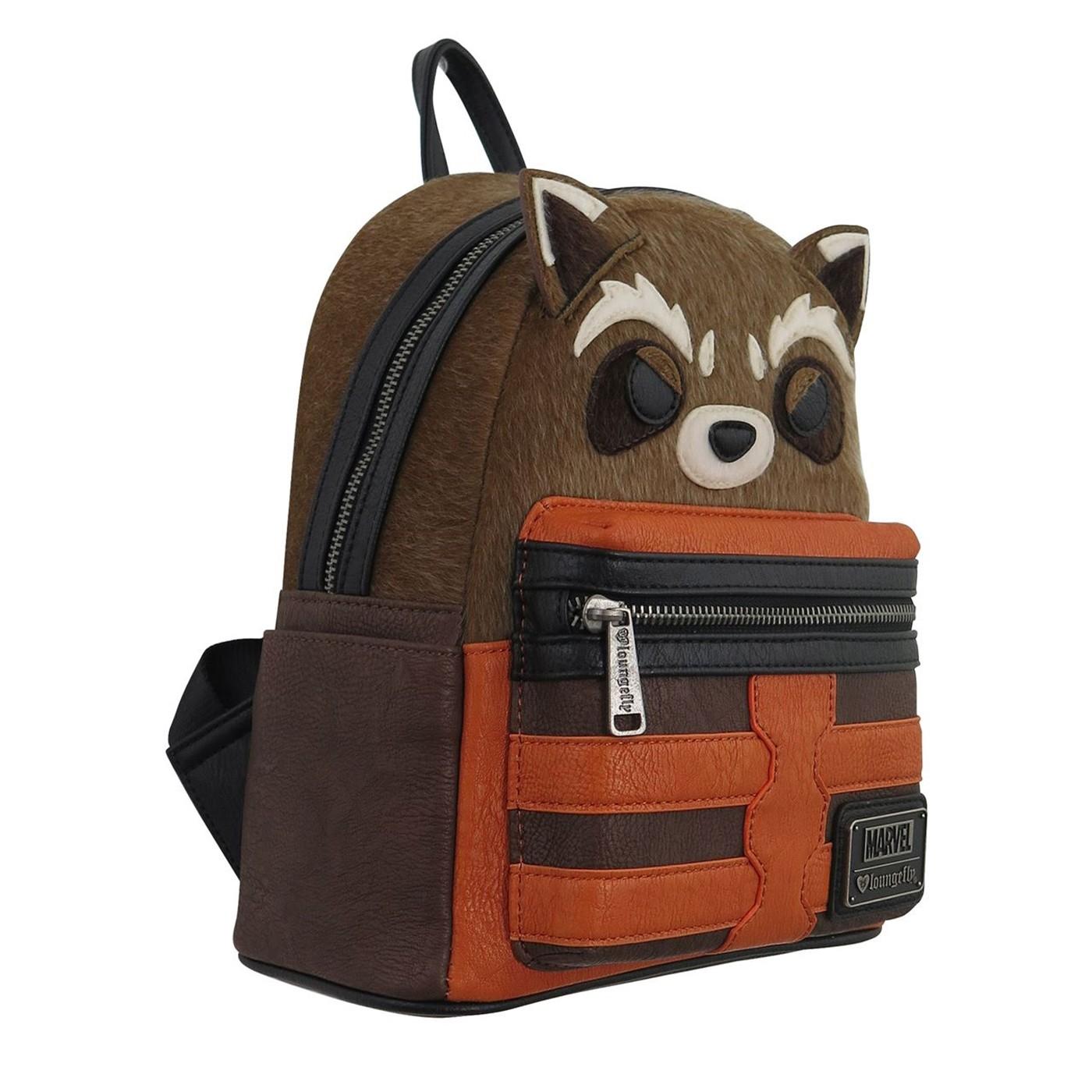 GOTG Rocket Raccoon Loungefly Mini Backpack