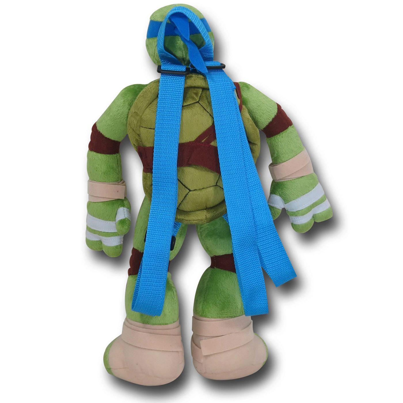 Teenage Mutant Ninja Turtles TMNT Leo Plush Backpack