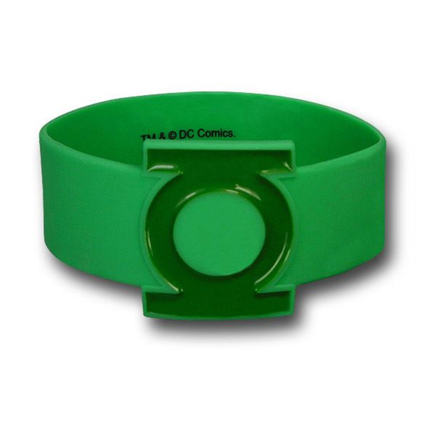 Green Lantern Symbol Molded Rubber Wristband