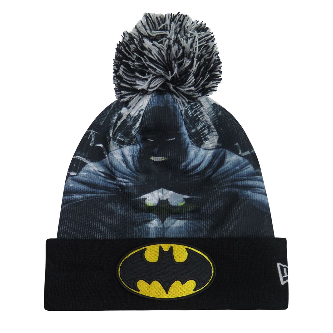 Batman Angry Bats Sublimated Pom Pom Beanie