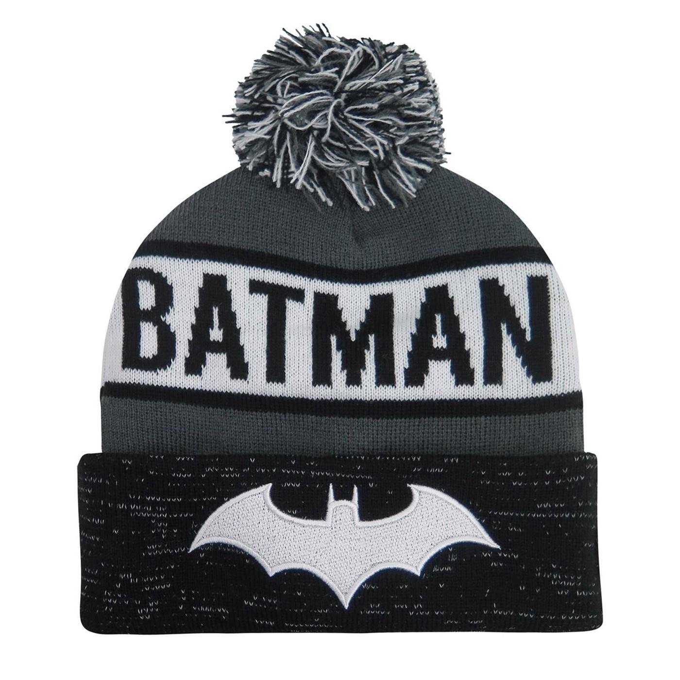 Batman Hush Logo Reflective Cuff Beanie