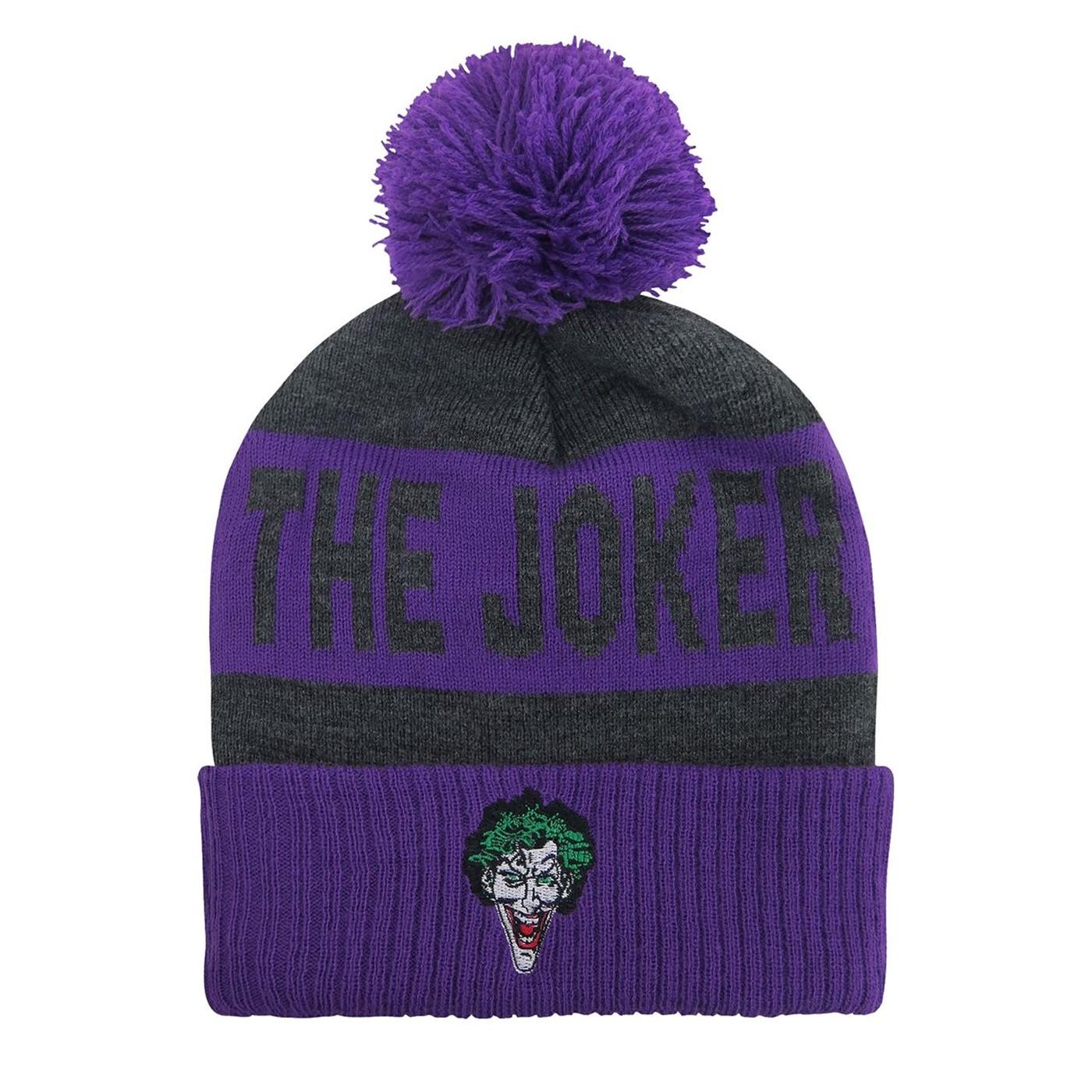The Joker Classic Pom Pom Beanie