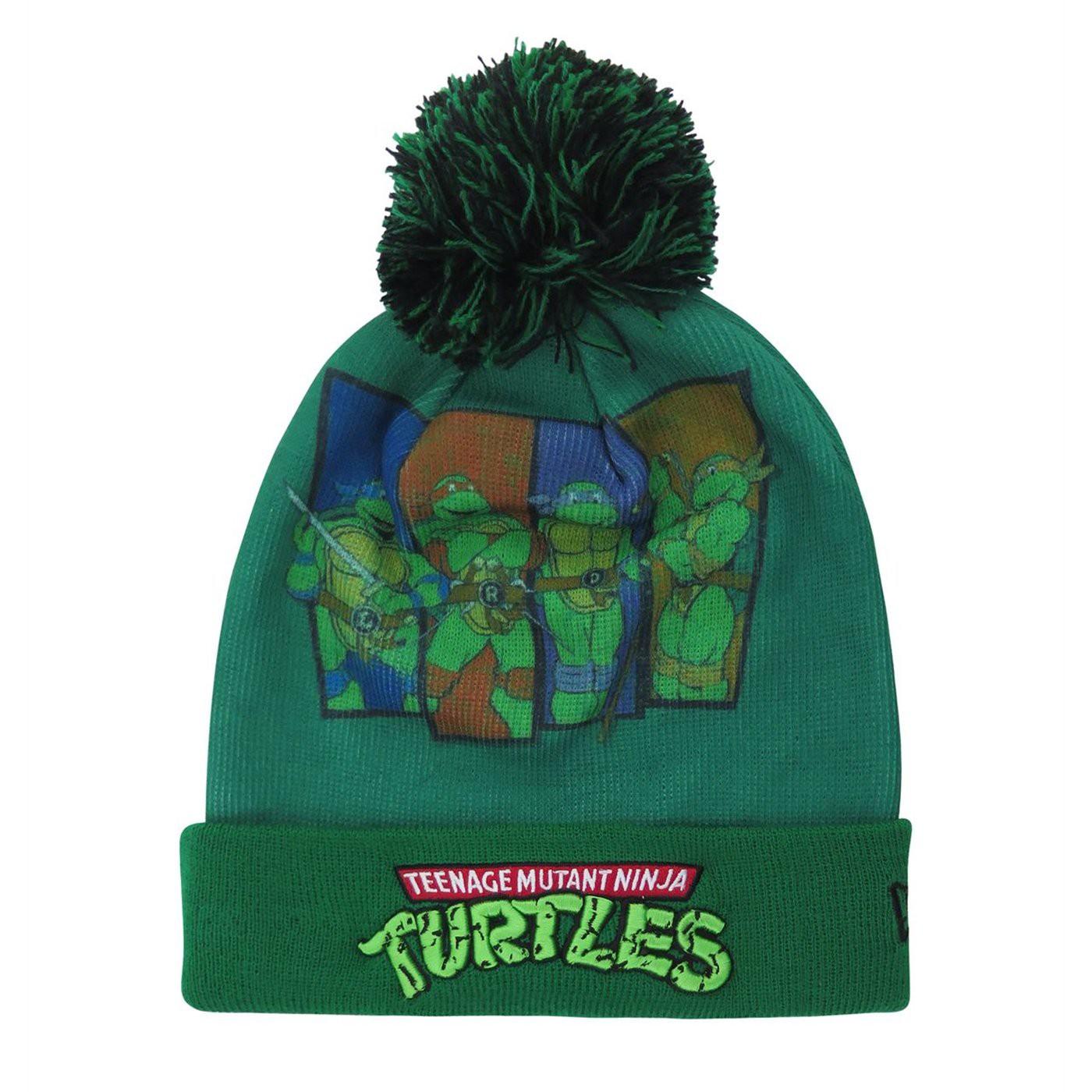 Teenage Mutant Ninja Turtles Kids Pom Pom Youth Beanie