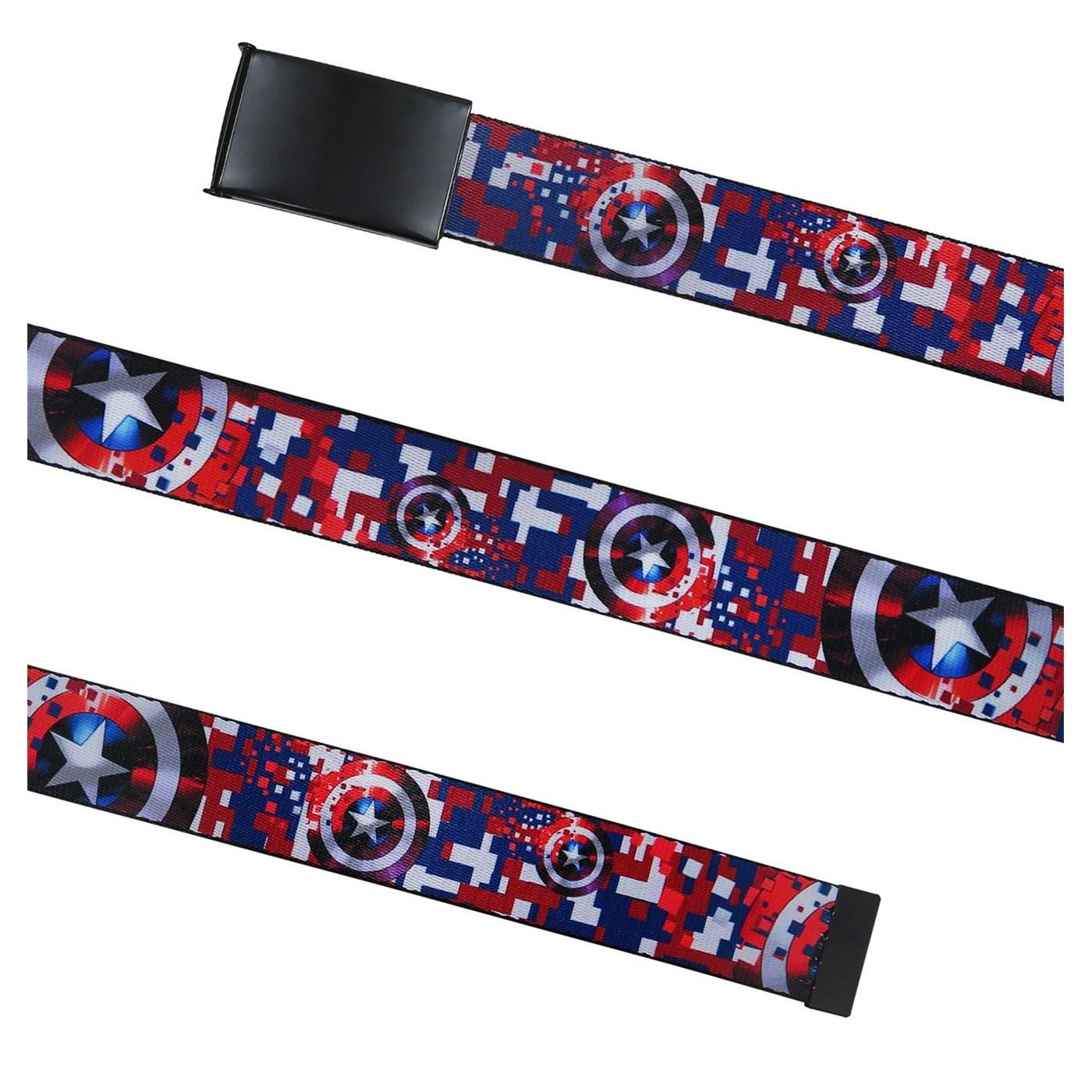 Captain America Red White & Blue Web Belt