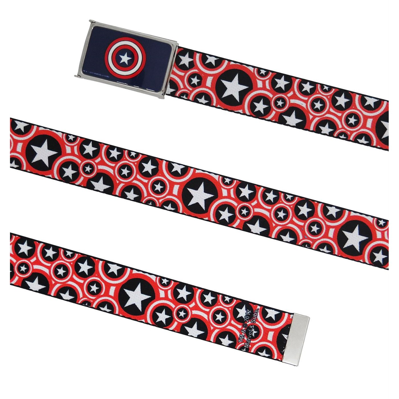 Captain America Shield Collage Web Belt