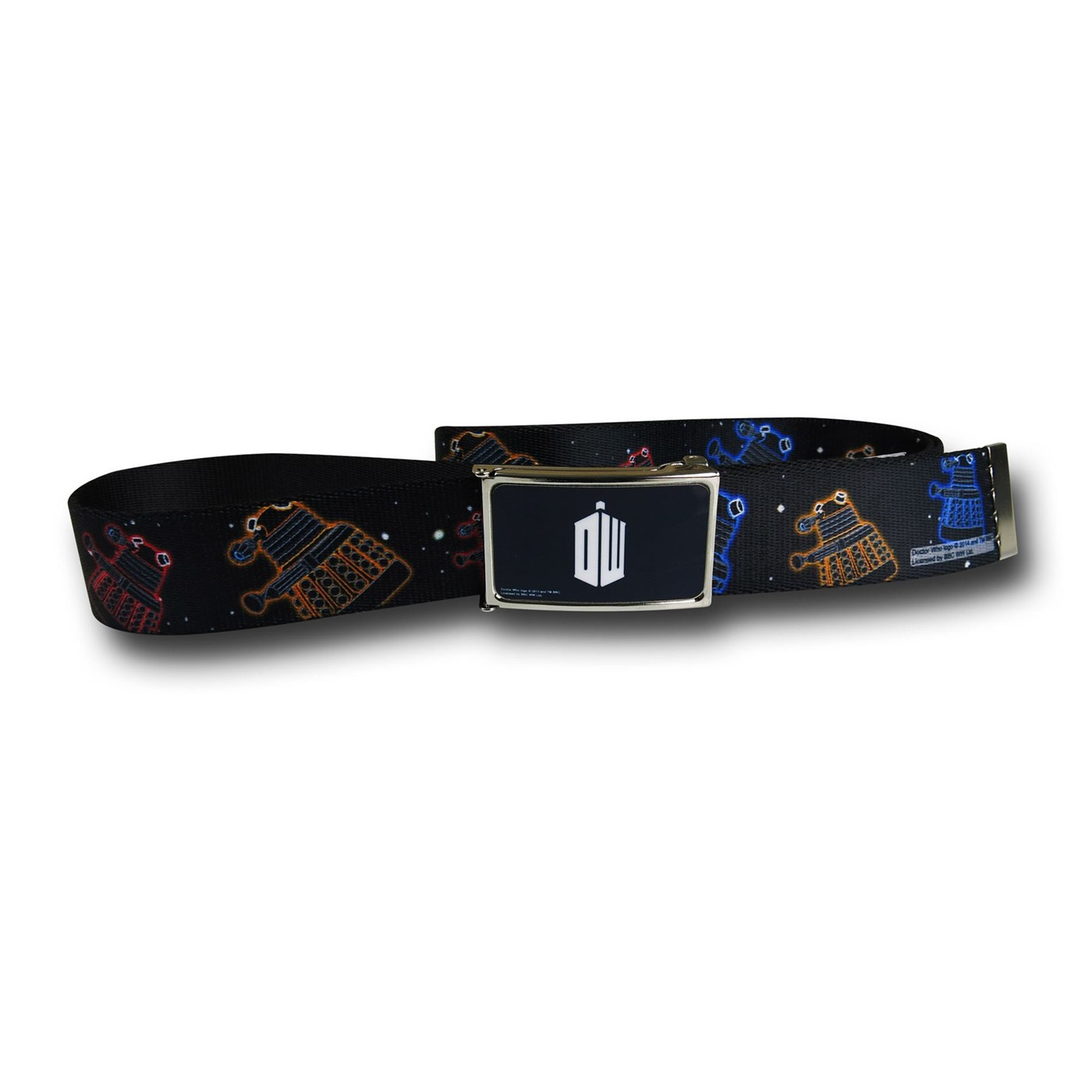 Doctor Who Colorful Daleks Web Belt