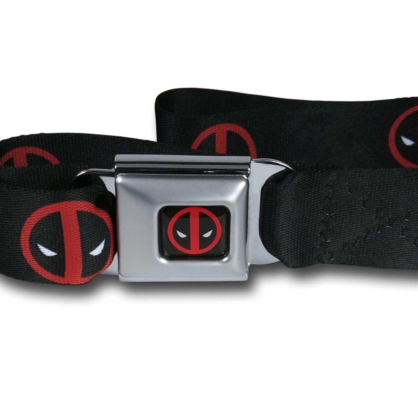 Deadpool Symbols Seatbelt Belt