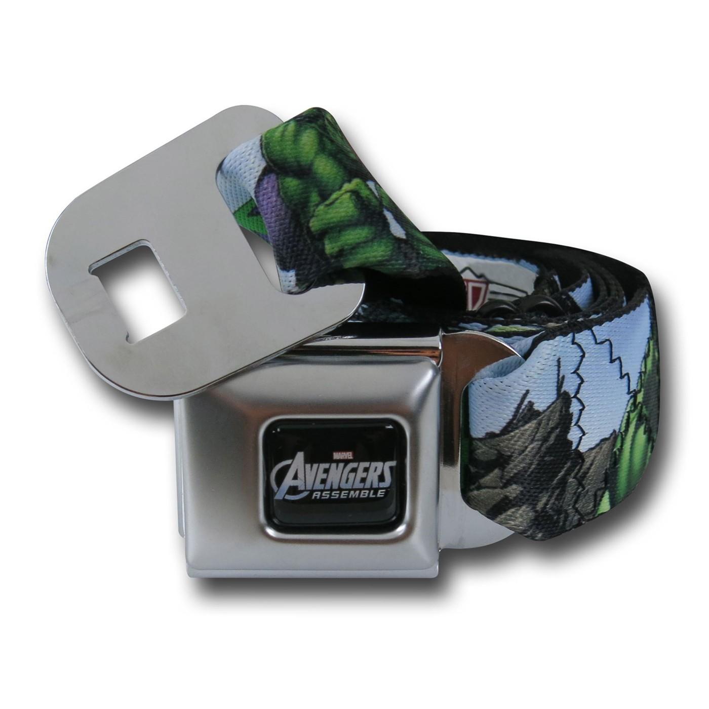 Hulk Avengers A Seatbelt Belt