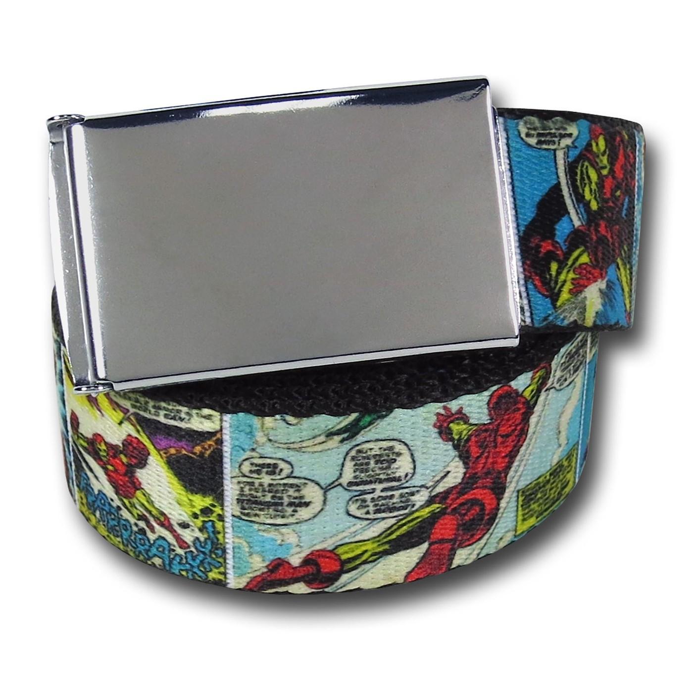 Iron Man Classic Comic Panels Adult Web Belt