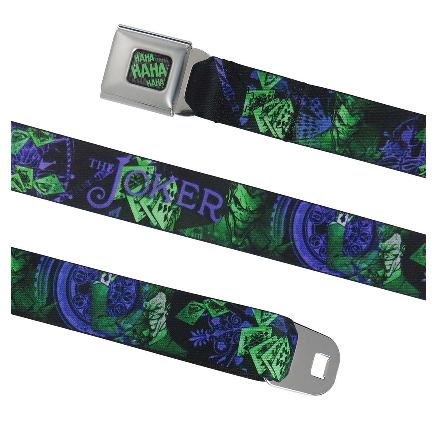 The Joker Flipping Cards Seatbelt Belt