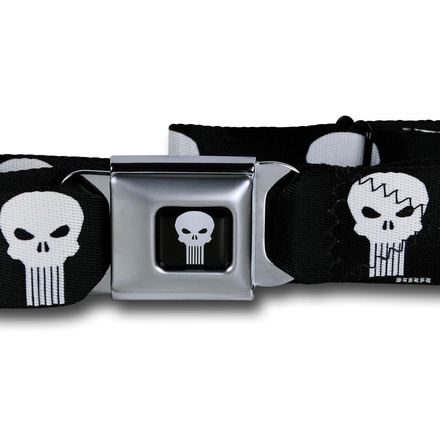 Punisher Symbols Seatbelt Belt
