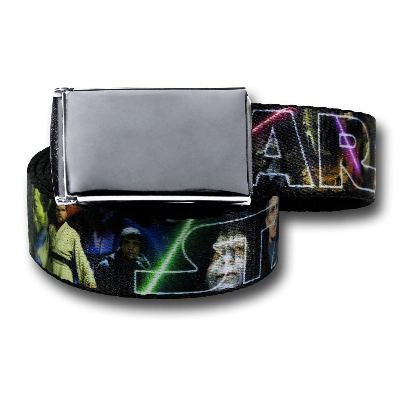 Star Wars Movie Scenes Web Belt