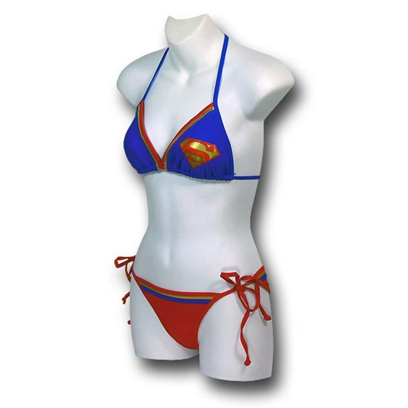 Supergirl Bandeau Triangle Bikini Women's Swimsuit