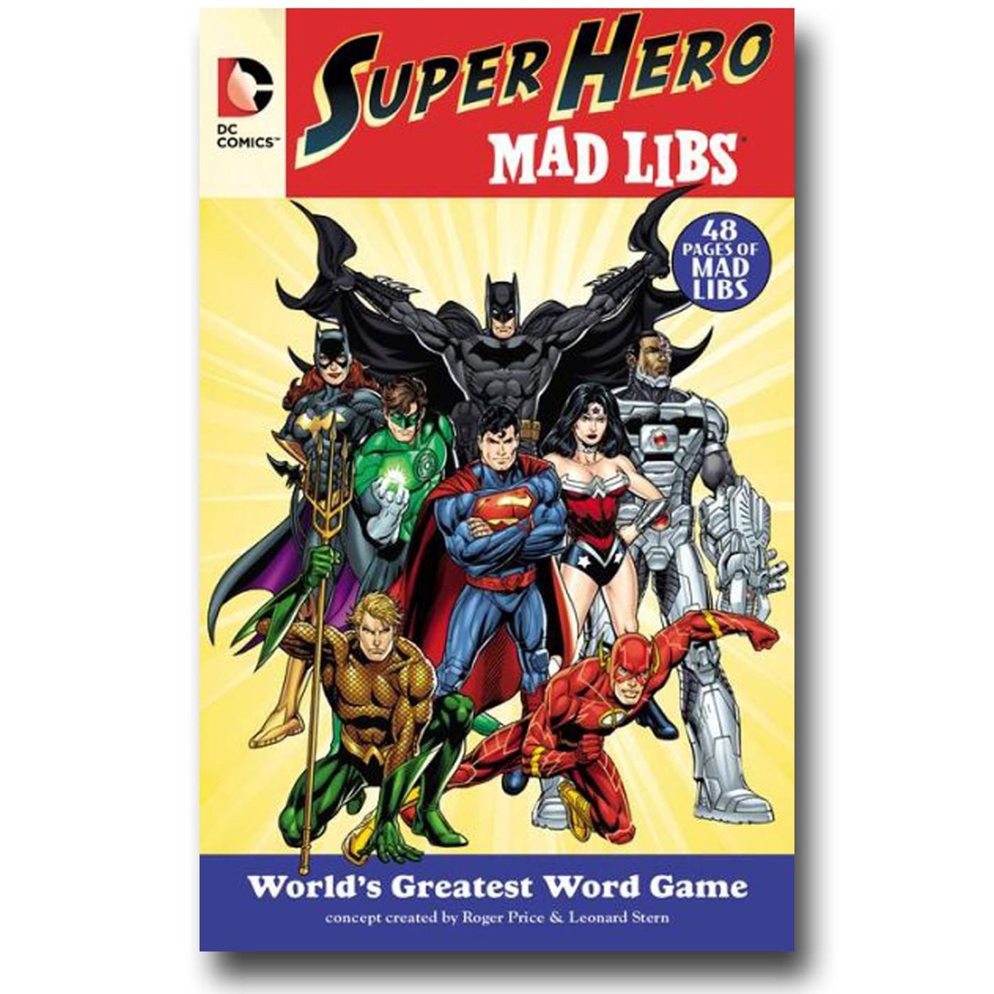 DC Superhero Mad Libs Book