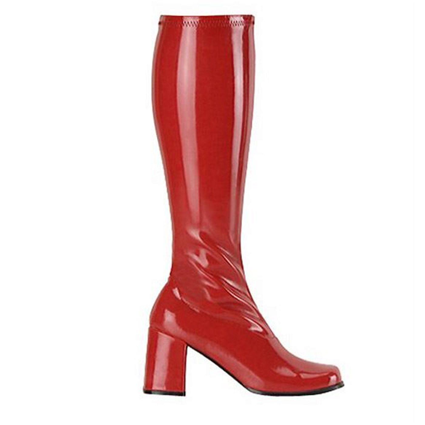 Hero Red GO GO Boots 3 Inch Heel