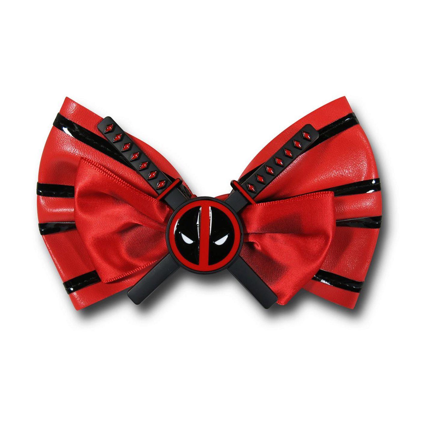 Deadpool Swords Crossed Hair Bow
