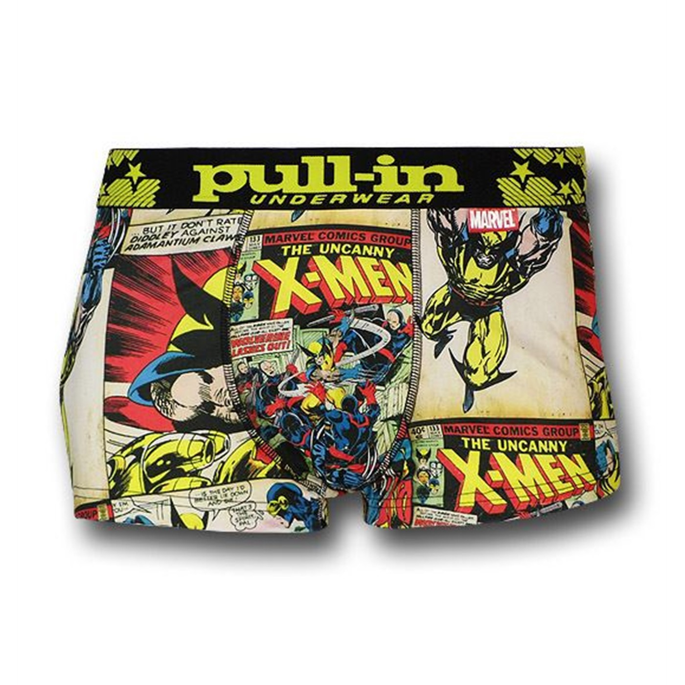 X-Men & Wolverine Mens Pull-In Boxer Briefs
