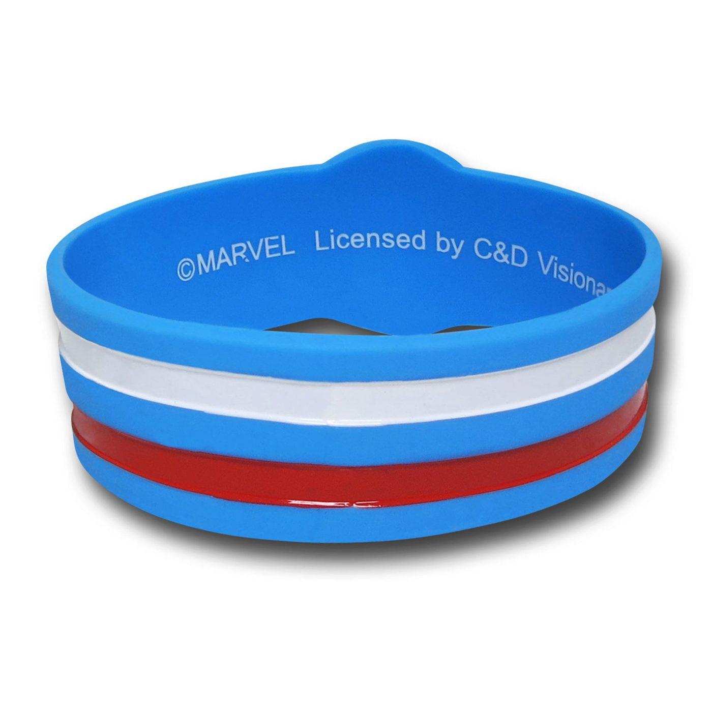 Captain America Symbol Rubber Wristband