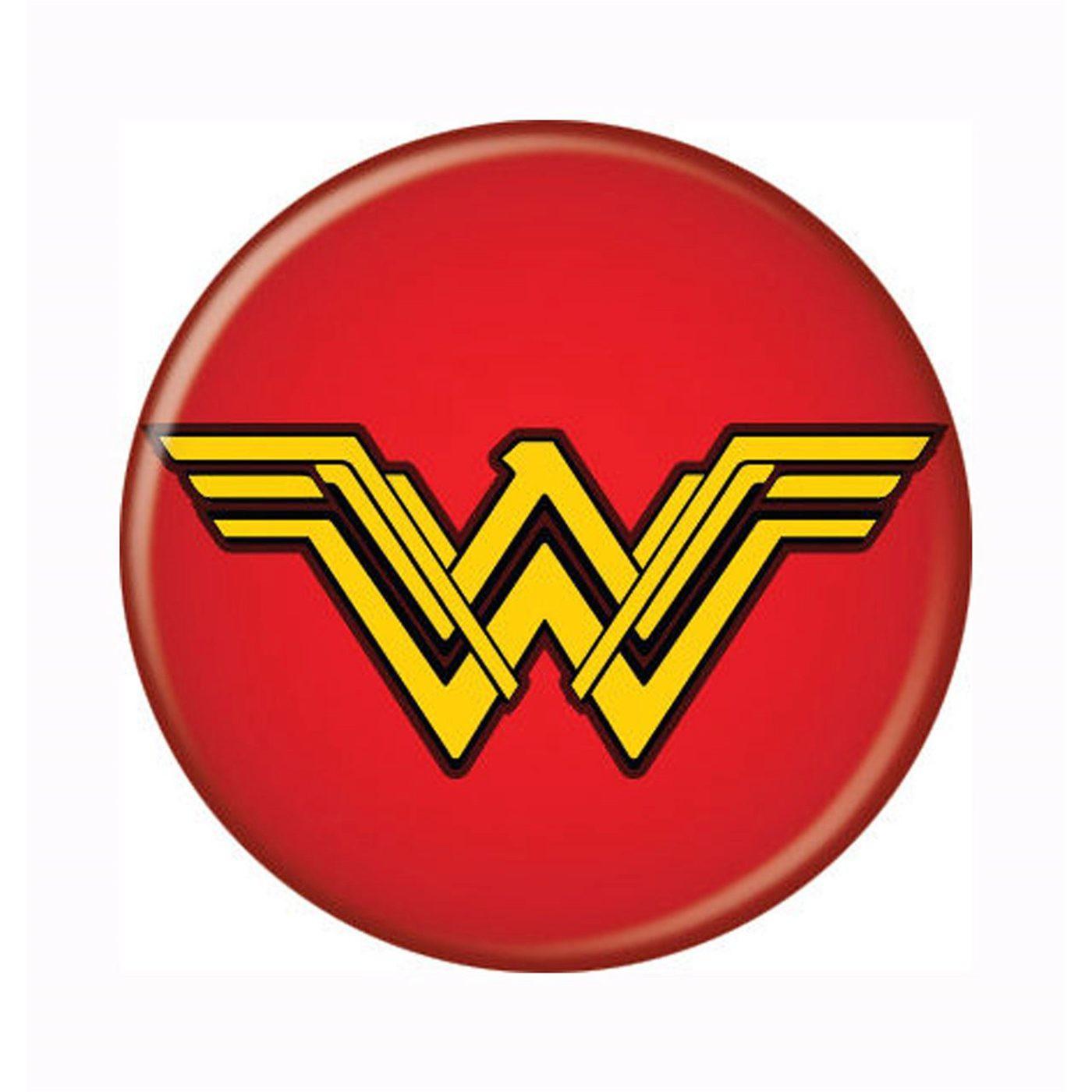 Wonder Woman Movie Symbol Red Button