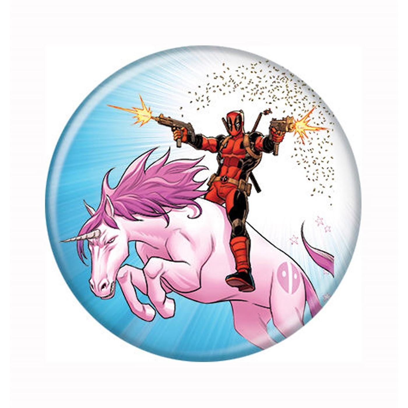 Deadpool Unicorn Mayhem Button