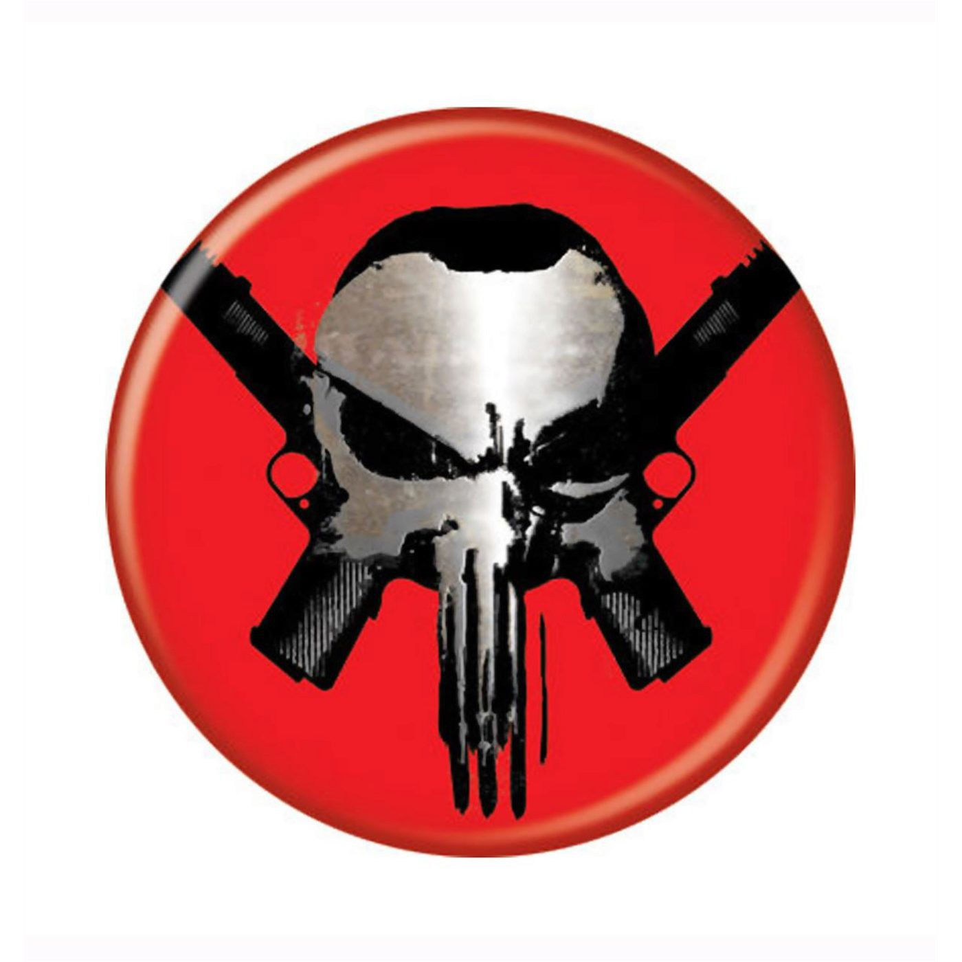 Punisher Skull and Guns Button