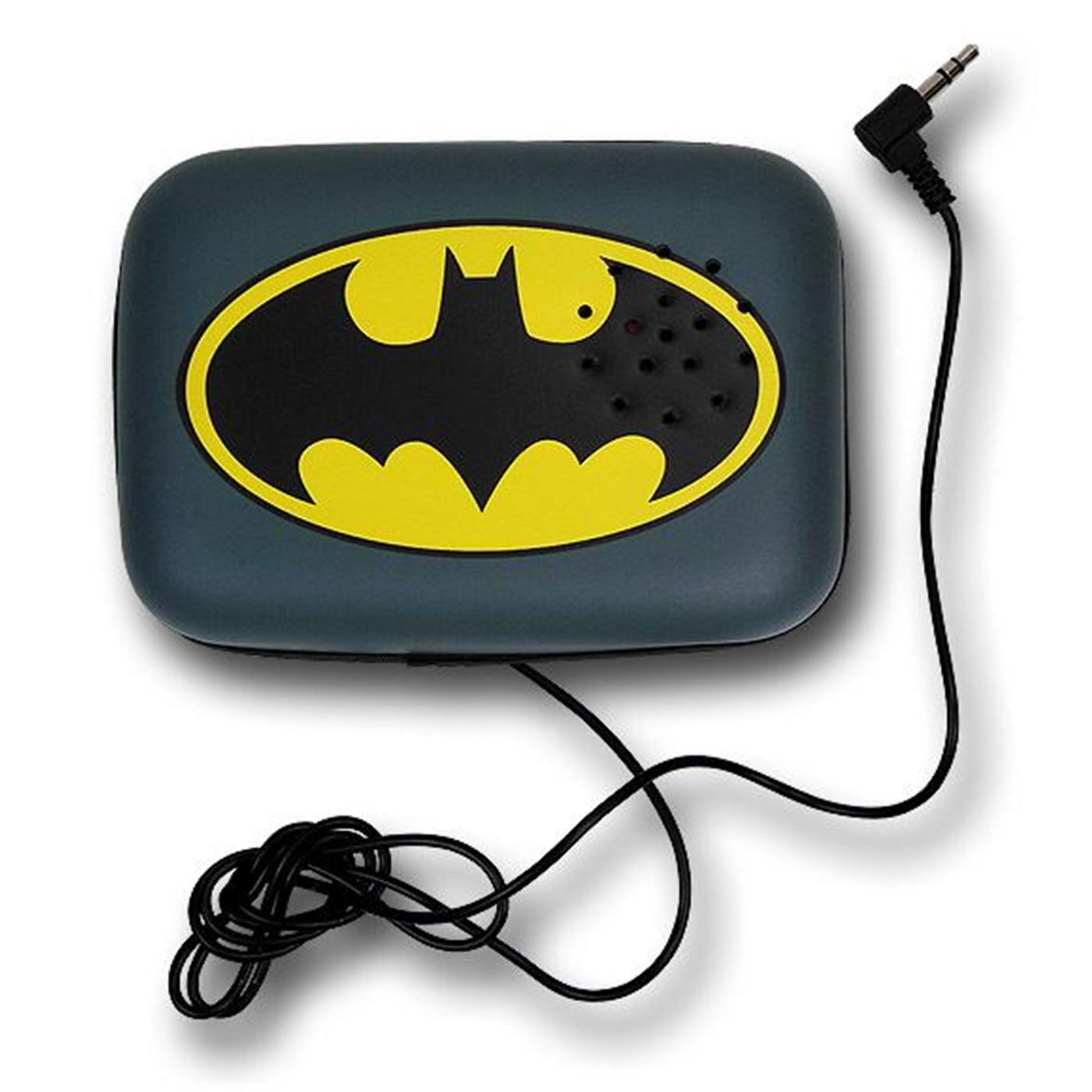 Batman Symbol Belt Buckle w/Speaker