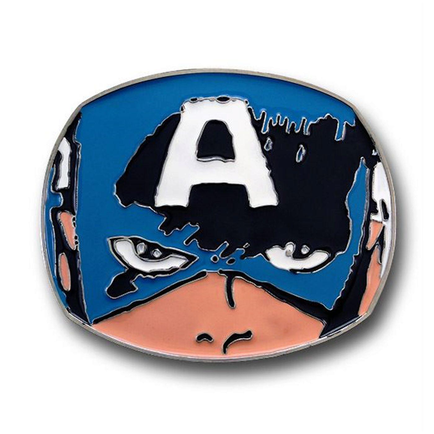 Captain America Face Belt Buckle